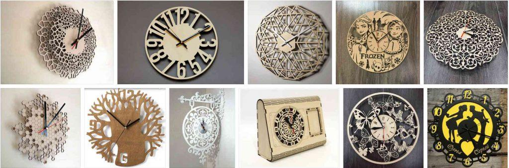 Часы и циферблаты с помощью лазера