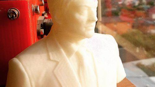 Бюст, напечатанный на 3D-принтере