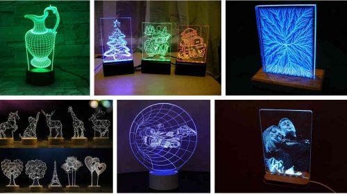 Светильники из акрила с подсветкой