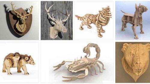 3D-животные с помощью лазера