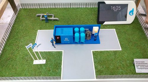 3D-печатный макет промышленного объекта